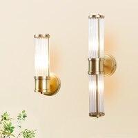 Lange Volle kristall wandleuchte Bad Lampe 1 oder 2 E14 led-lampen Kupfer Wandleuchte Hotel Wohnzimmer Schlafzimmer spiegel licht