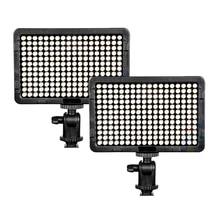2PCS SETTO 216 Pcs LED Video/Photo Light Lamp 13W 1560LM 5600K/3200K Dimmable for Canon Nikon Pentax DSLR Camera Video Camcorder