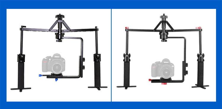 Estabilizador de cámara de vídeo cardán de mano ajustable de aleación de Allo para cámara DSLR videocámara 6 kg carga - 3