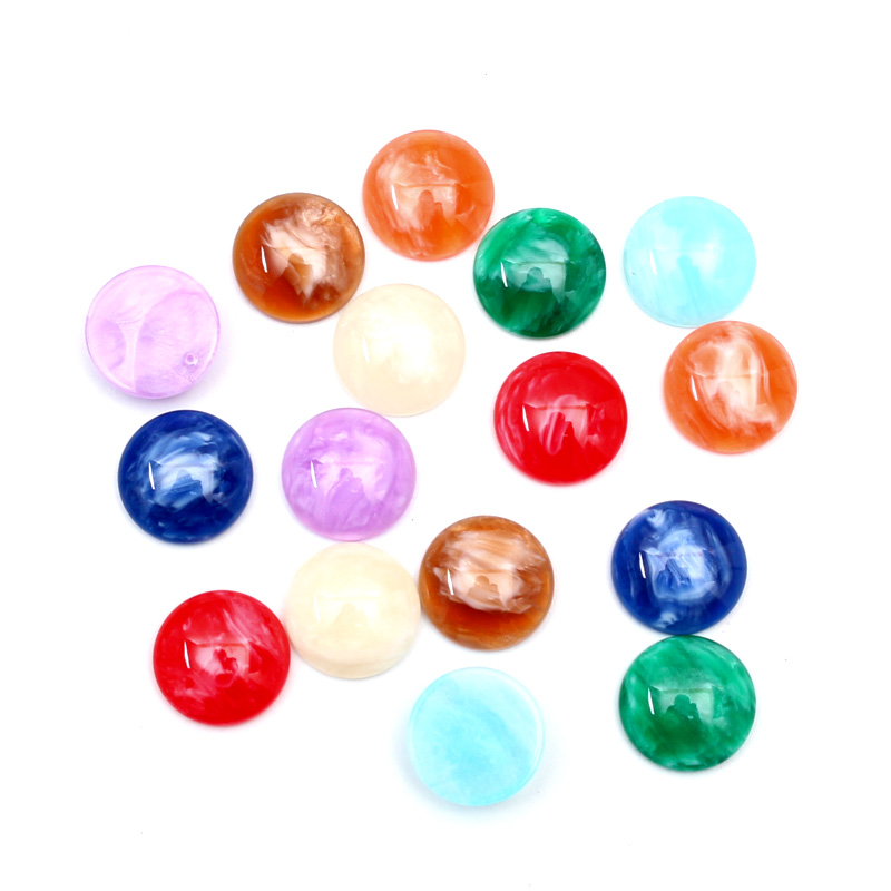 100Pcs Mixed Round Resin Crafts Christmas Decoration Flatback Cabochon Embellishment For Scrapbook DIY Accessories