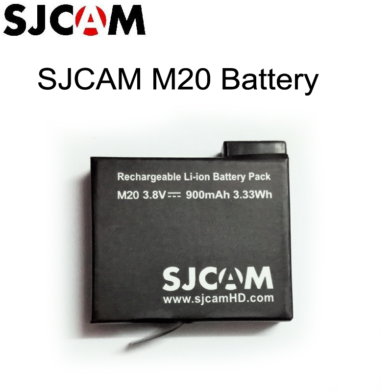 6c0f2f765a2 Original SJCAM Brand 3.8V 900mAh 3.33Wh Li-ion Battery Black for SJCAM M20 Sport  Camera batteries