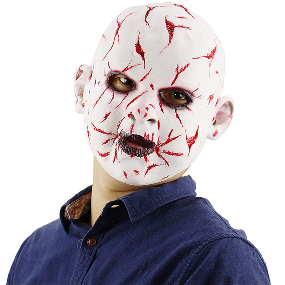 Cosplay Halloween Carnival party Bloody Face Grimace Doll Vampire Devil Latex Mask Horror Party Props Head Cover