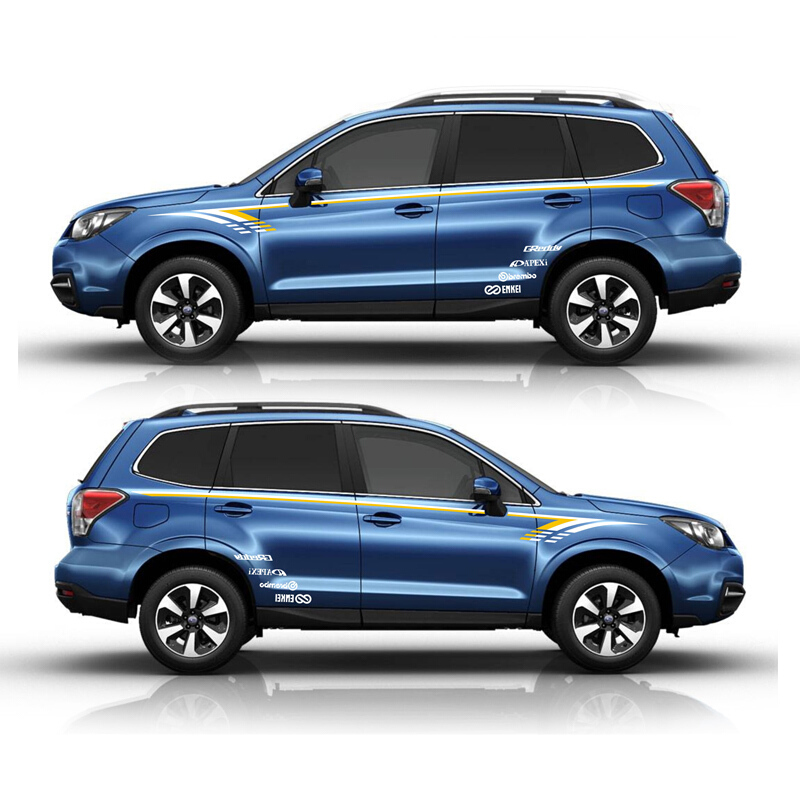 World Datong Car Styling Sport Car Sticker For Subaru 2014-2018 Forester Mark Levinson Auto Body Decal Exterior Accessories