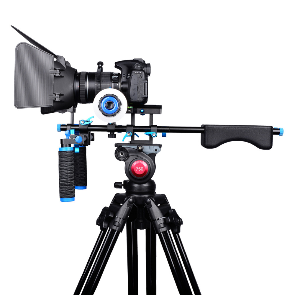 D203 DSLR Rig Shoulder Video Camera Stabilizer Support Cage/Matte Box/Follow Focus For Canon Nikon Sony Camera Camcorder