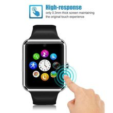 Dropshipping Bluetooth Smart Watch Men Women GT08 Touch Screen Big Battery Support TF Sim Card Camera For IOS Android IPHONE(China)