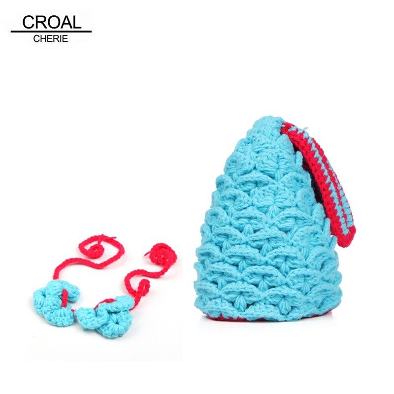 Fashion Newborn Photography Props Infant Baby Mermaid Costume Girl Beanies Hat High Quality Cute Handmade Crochet Baby Bikini