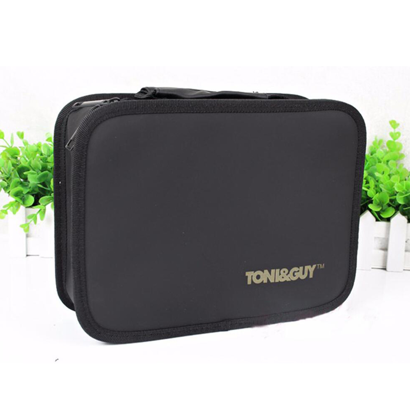 Professional Hairdressing Tool Bag Barber Salon Portable Tool Case For Hair Styling Tools Storage PU leather Hair Scissors Bag professional hair salon scissors bag for barber hairdresser pvc hair styling tool kit holder hair clipper s storage pouch black