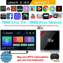 X96 X96W Android TV BOX system operacyjny Android 7.1 procesor Amlogic S905W 1 GB/8 GB 2 GB/16 GB bluetooth 4.0 2.4GHz WiFi HD 4K Smart odtwarzacz multimedialny TV(China)