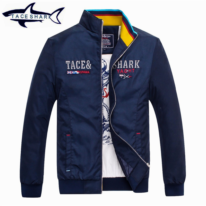 2016 Outerwear men coat jacket Windcheater Jacket Men Cotton Brand clothing Tace & shark jaket men Comfortable Shark Brand ...