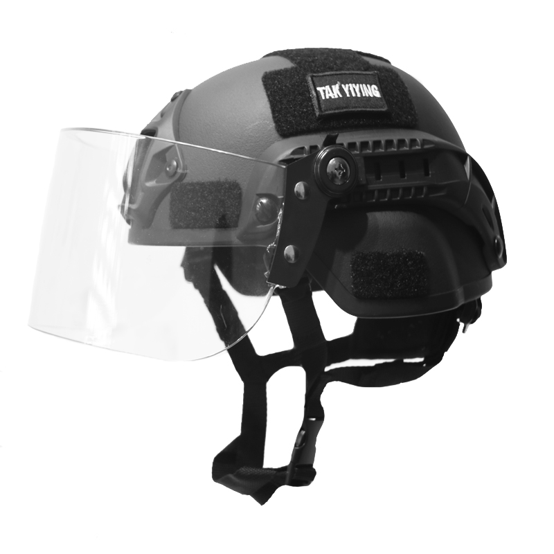 TAK YIYING Airsoft Swat Casque Combat Mich 2000 Casque avec Lunettes De Protection Noir Tan