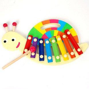 Игрушек! Супер милая деревянная игрушка детская музыкальная игрушка радуга Улитка ручные стучки ксилофон 8 нот День рождения Рождественский подарок 1 шт