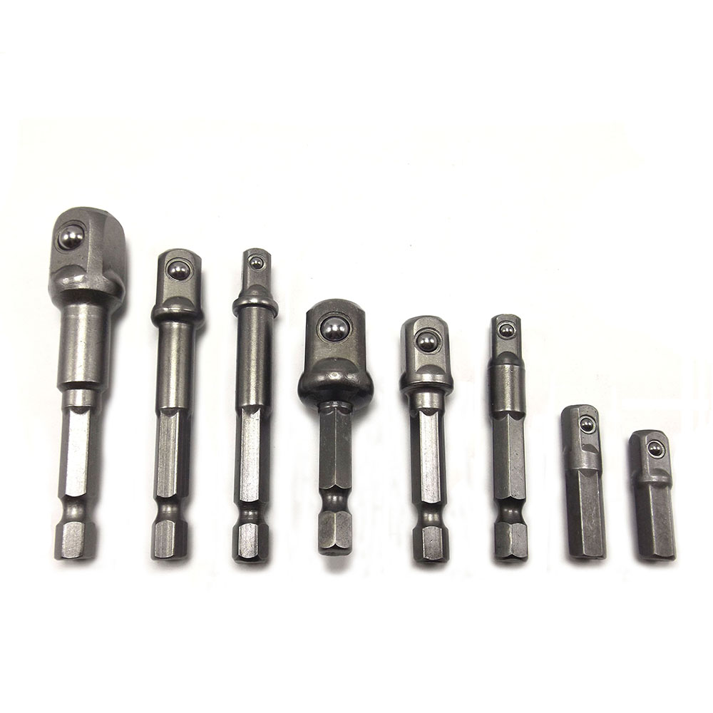 8Pcs / Set Cr-V Receptacle Adapter Connector 1/4 Hex Screwdriver Connecting Rod  Sleeve Batch Convertible Joints