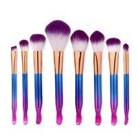 GUJHUI 8PCS  Make Up Foundation Eyebrow Eyeliner Blush Cosmetic Concealer Brushes A07