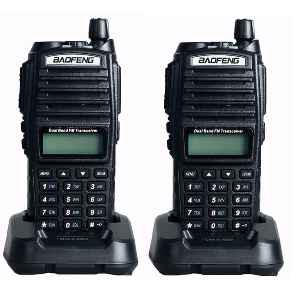 2pc UV82 Two Way Radio 136 174 400 520Mhz Pofung UV 82 FM HF Transceiver telsiz