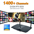 Smart Tv Box Q1504 Android Tv Boxn With Sky France European Canal Sports Channels Ligtv Turkish Sweden Netherland Spanish IPTV
