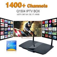 Smart Tv Box Q1504 Android Tv Boxn Avec Ciel France Européenne Canal Chaînes Sportives Ligtv Turc Suède Pays-Bas Espagnol IPTV