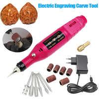 15 Pcs/set DIY Electric Engraving Engraver Pen Carve Tool for Jewelry Metal Glass EU Plug @LS