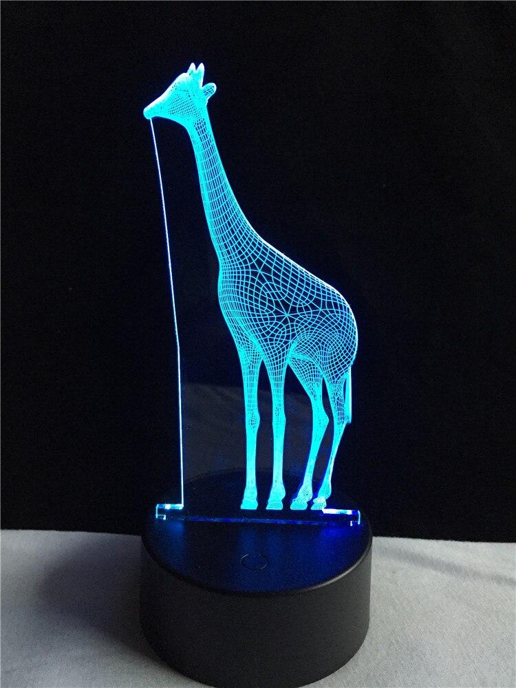 Giraffe Buttons Mixed Colours Novelty Animal Wooden