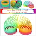 Hot Sale Magic Plastic Slinky Rainbow Spring Large Size 3 inch Colorful New Children Funny Classic Toy Bouncing Ball