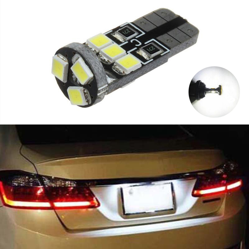 BOAOSI 1x Car Led Error Free T10 2835 SMD Lamp 12V License Plate Lights For Toyota Corolla Avensis Yaris Rav4 Hilux Prius image