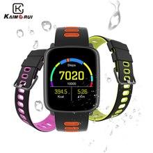 Купить с кэшбэком Kaimorui Smart Watch Men Heart Rate Tracker Ip68 Waterproof Bluetooth Smartwatch Replaceable Straps for IOS Android Watch Phone