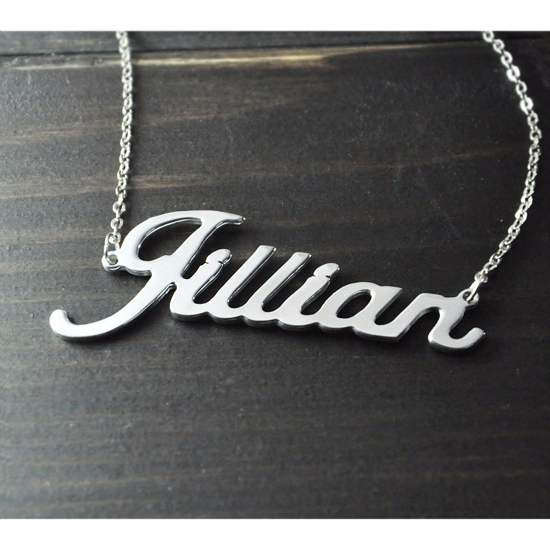 Any Personalized Name Necklace alloy  pendant  Alison font  fascinating  pendant  custom name necklace Personalized  necklace 1