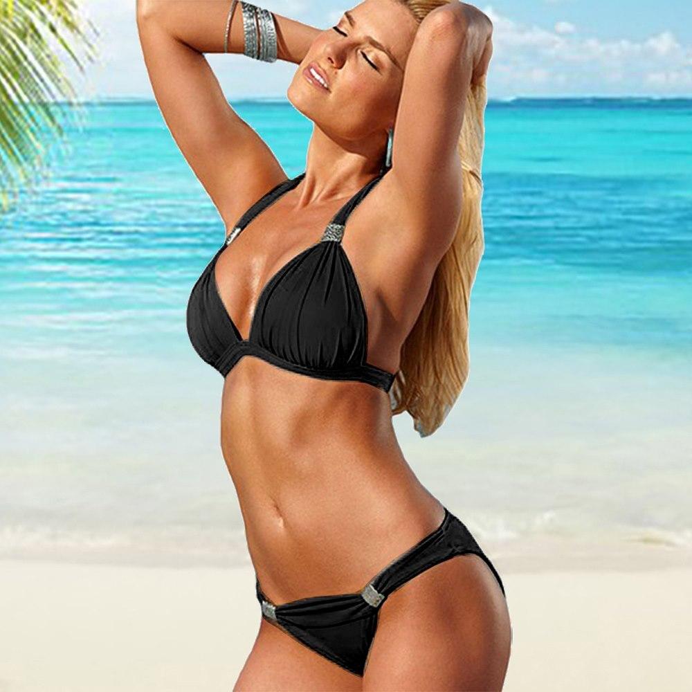 Hot Sale Bikinis Set 2020 Swimsuit Women Bandage Beachwear Bathing Suits Biquini Swim Wear Swimwear Brazilian Bikini Sexy Top 1