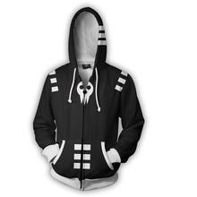Soul Eater Death the Kid Anime 3D Hoodies Soul Eater Sweatshirts Jacket Coat Cosplay