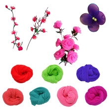 5Pcs/lot Solid Color Artificial Flowers Nylon Stocking Material Accessories Wedding Party Handmade Crafts DIY Wreath Supplies