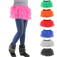 Promotion New 6 Layers Extra Fluffy Teenage Girl Adult Women Pettiskirt Tutu Party Dance Mini Skirt Performance Clothes