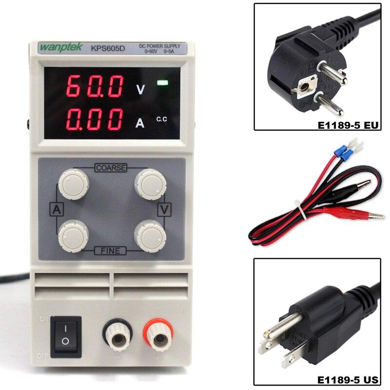 Лаборатории питания 60 В 5A однофазный регулируемый SMPS цифровой мини регулятор напряжения 0,1 В 0.01A KPS605D питания постоянного тока