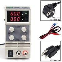 Лабораторный блок питания 60 V 5A однофазный регулируемый SMPS цифровой мини-регулятор напряжения 0,1 V 0.01A KPS605D DC блок питания