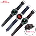 R720 laopijiang samsung gear s2 versão esportiva do relógio inteligente pulseira pulseira de couro