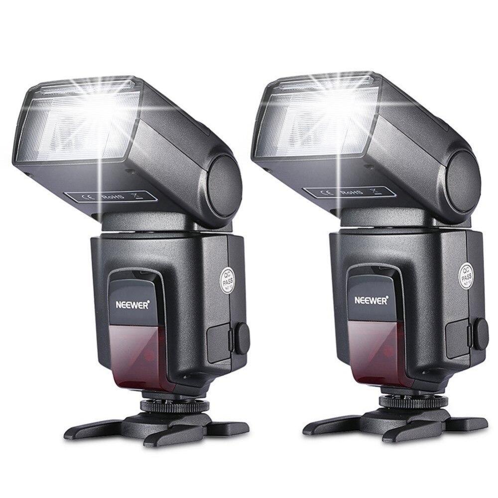 Neewer 2 pièces TT560 Flash Speedlite pour Canon Nikon Fujifilm Pentax Sigma Minolta Leica avec chaussure chaude à contact unique
