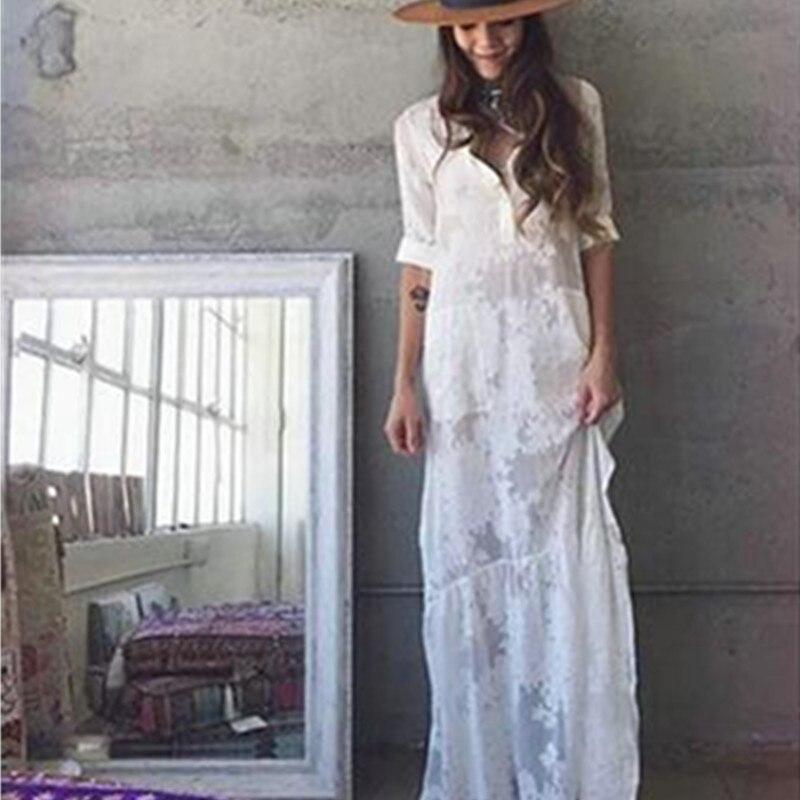 Voorkeur Lange witte boho jurk – Populaire jurken uit de hele wereld TG38