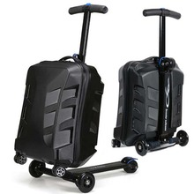 Laptop-Bag Suitcases-Wheel Travel-Bags Skateboard Business-Rolling-Luggage Spinner Trolley
