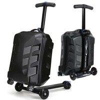 Letrend для мужчин скейтборд Бизнес Прокатки Спиннер для багажа студентов тележка чемоданы колеса женщин Дорожные сумки Сумка для ноутбука