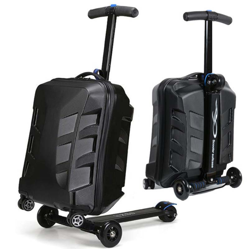 Letrend Men Skateboard Business Rolling Luggage Spinner Students Trolley Suitcases Wheel Women Travel Bags laptop bag letrend waterproof travel bag large capacity folding suitcases wheel trolley women rolling luggage handbag