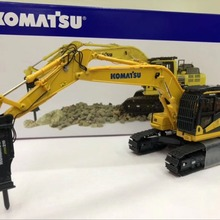 UH8140 Diecast Toy Model 1:50 Komatsu PC210LC-11 Hydraulic Excavator With Hammer Construction Vehicle for Decoration,Collection