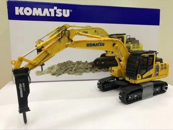 цена на UH8140 Diecast Toy Model 1:50 Komatsu PC210LC-11 Hydraulic Excavator With Hammer Construction Vehicle for Decoration,Collection