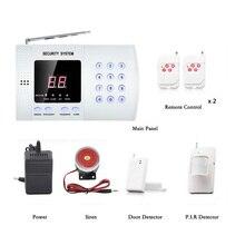 English control Voice 433MHz Wireless Home Security Burglar Alarm System Auto Dialer Wireless Alarm System Dual