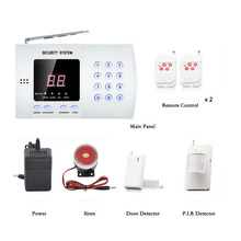 English control Voice 433MHz Wireless Home Security Burglar Alarm System Auto Dialer Wireless Alarm System Dual Antenna Alarm