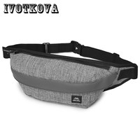 IVOTKOVA Nylon Men Waist Bag for Men Fanny Pack Light Belt Bag Waist Pack Bum Purse Money Belt Waist Pouch Molle Pochete