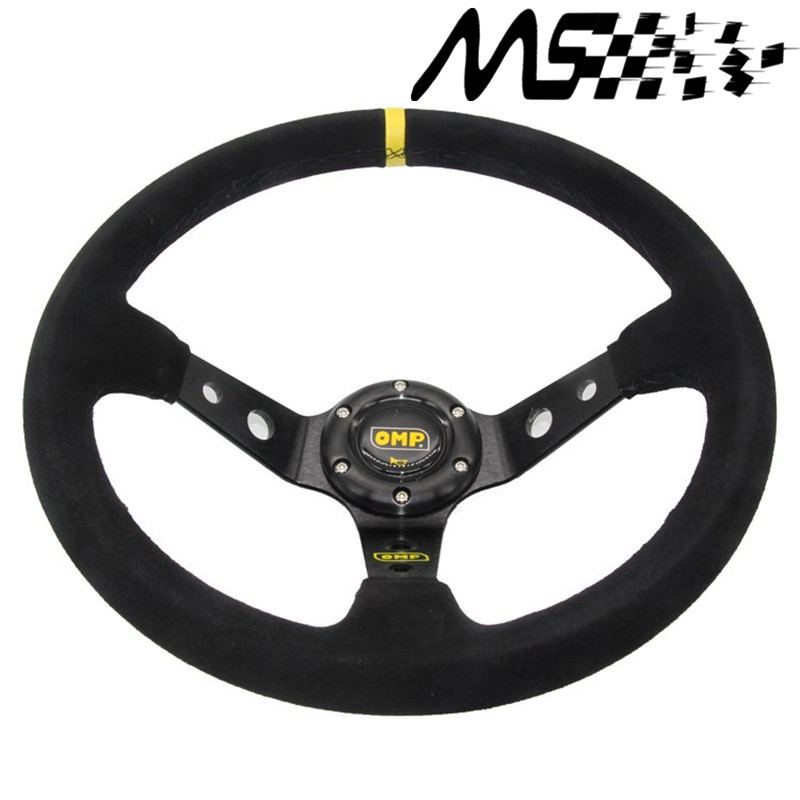 цена на 14inch 350mm OMP Deep Corn Drifting Steering Wheel / Suede Leather Steering wheels