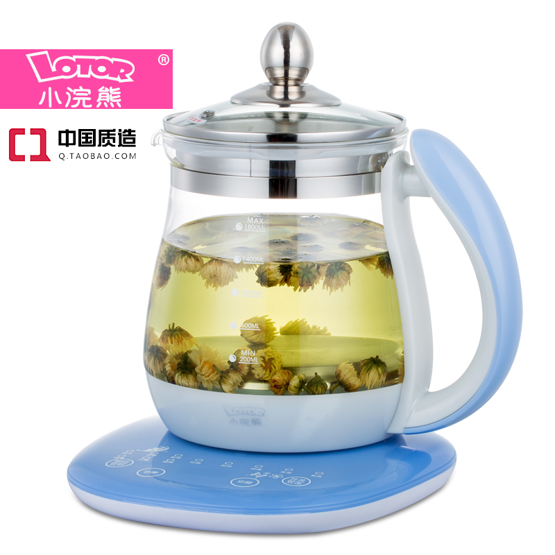 Family expenses Authentic electric kettle scented tea Health pot bear 220v electric kettle multifunctional health preserving pot decocting of tea glass thickened kettles