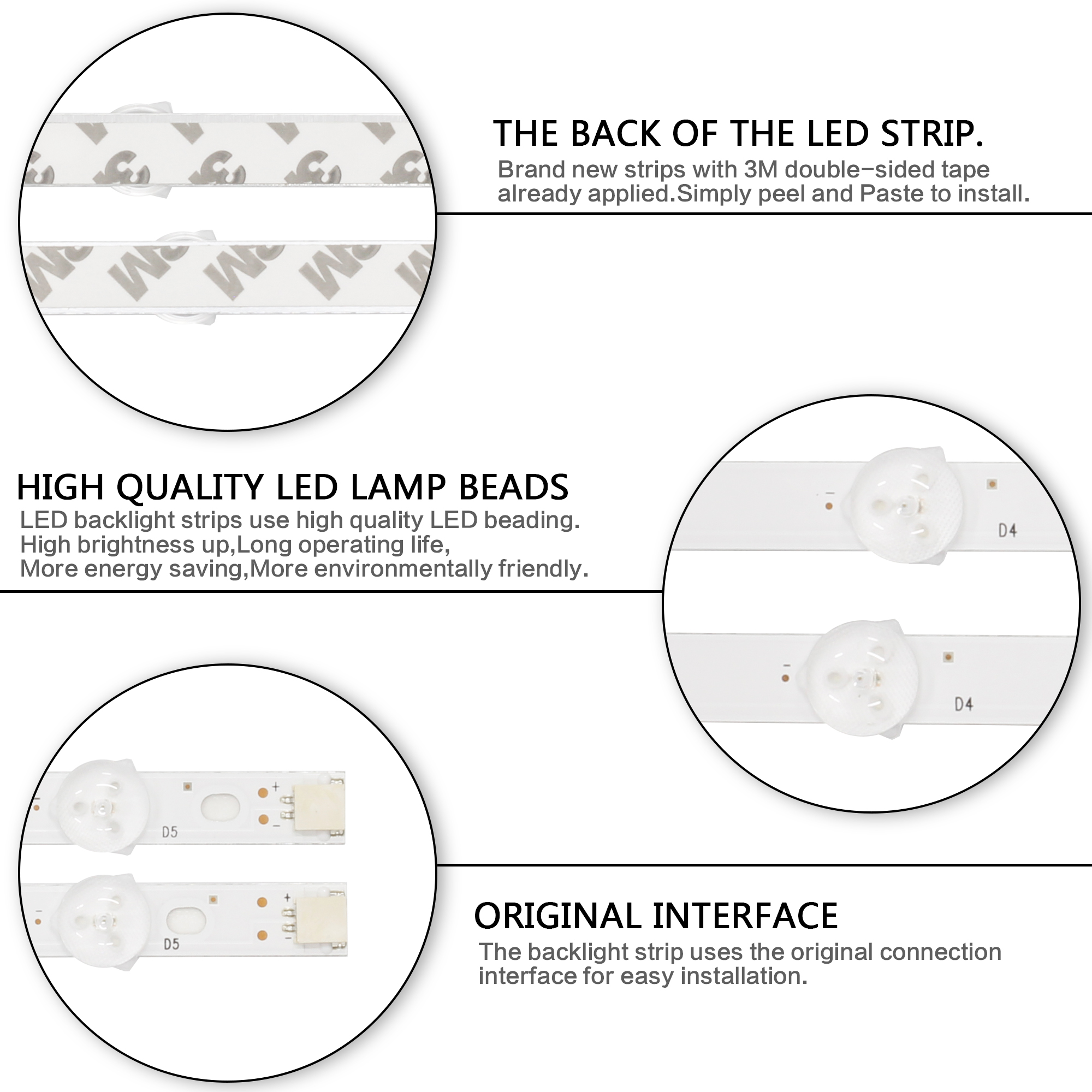 Image 5 - LED strip perfect Replacement for LG 42LN5700 42LN519C 42LN5200 42LN6150 42LN5758 42LN541V 42LN5450 6637L 0025A LC420DUE-in Industrial Computer & Accessories from Computer & Office