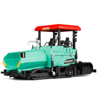 Alloy Diecast Paver Tractor Truck 1:40 Crawler Road Construction Engineer Model Collection Hobby Toys