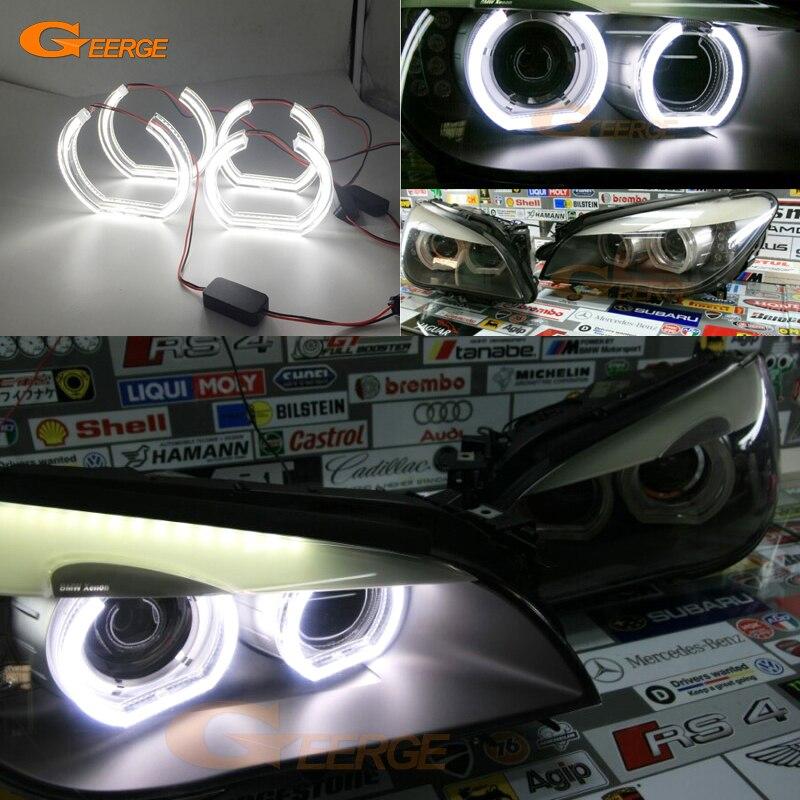 Для БМВ f01 Ф02 Ф03 Ф04 730d 740d 740i 750i полный 760i 2008-2012 Ксеноновые фары отличное ДТМ Стиль Ультра яркий светодиодный глаза Ангела комплект