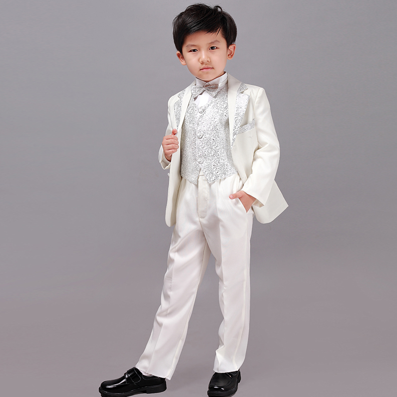 Kids Child Formal Suit Formal Suits Boys Wedding Tuxedo White ...