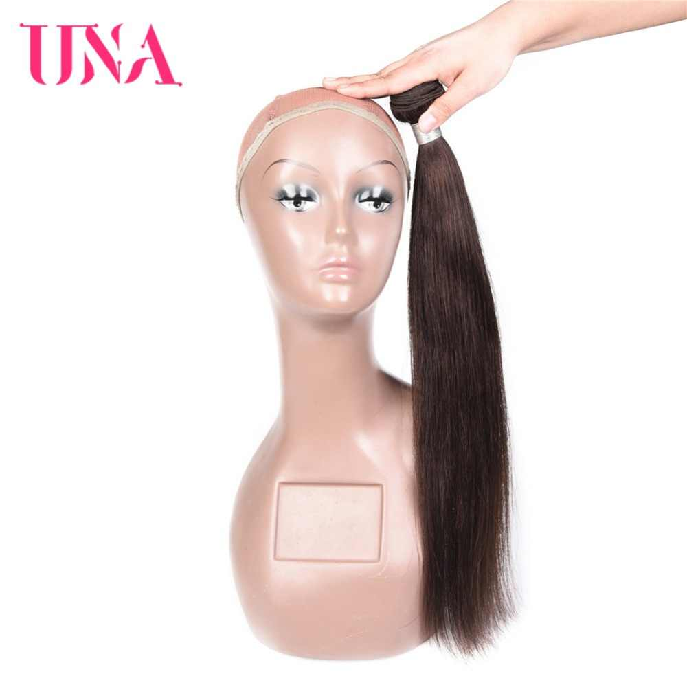 UNA Straight Brazilian Human Hair Bundles Non-Remy Hair Weft Brown Color Human Hair Weave Bundles